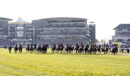 Britain Horse Racing - Grand National Festival - Aintree Racecourse - 8/4/17 General view of the action of the 5:15 Randox Health Grand National Action Images via Reuters / Jason Cairnduff Livepic