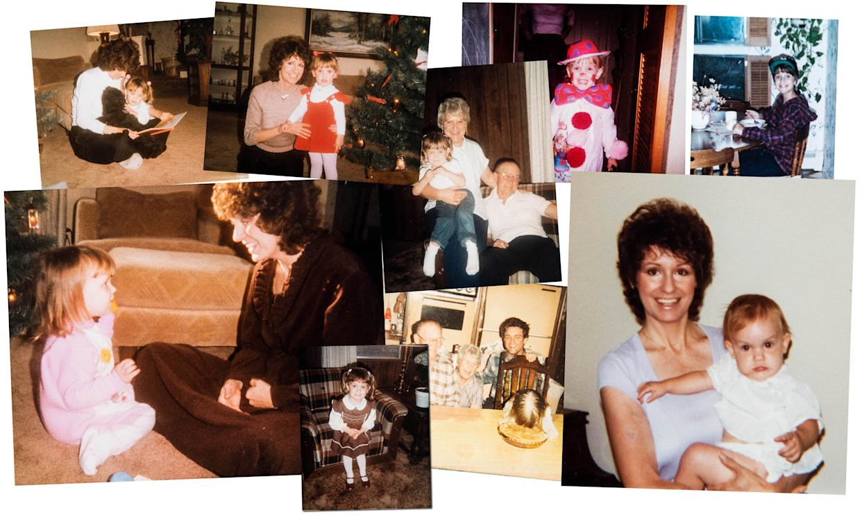 Childhood photos of Jess McIntosh and her mother, Nana McIntosh. Nana underwent artificial insemination to conceive Jess. The sperm donor was supposed to be anonymous, but Jess learned his identity from Ancestry.com last year. (Photo: Courtesy Jess McIntosh)
