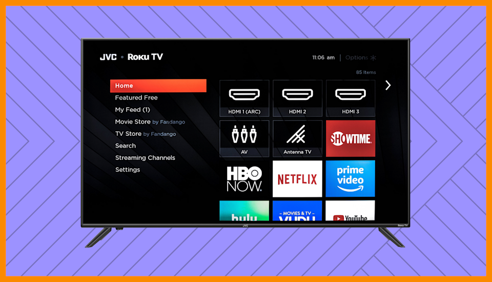 Save $370 on this JVC 50-inch Class 4K Ultra HD Roku Smart LED TV (LT-50MAW595). (Photo: Walmart)