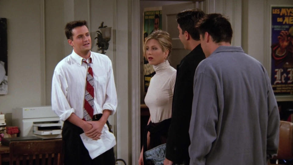 <p> On the surface, The One With the List is a cruel, heartbreaking episode. The boys encourage Ross to make a list of Rachel&#x2019;s pros and cons to help him decide whether or not to dump Julie and give it a go with his childhood crush. Unlike many Friends episodes, the comedy here is dark and mixed with tragedy, as the list prints just in time for Rachel to read it - a cruel way to deny fans who had been shipping Ross and Rachel for one and a half seasons. It&#x2019;s smartly done, and the show doesn&#x2019;t shy away from commenting on how unacceptable the objectification of potential partners is. Meanwhile Monica accepts work for the Mockolate company, resulting in one of the funniest side-plots of any episode.&#xA0; </p> <p> <strong>Best line:</strong>&#xA0;Chandler: This must be so hard. Oh, no. Two women love me. They&apos;re both gorgeous and sexy. My wallet&apos;s too small for my fifties, and my diamond shoes are too tight. </p>