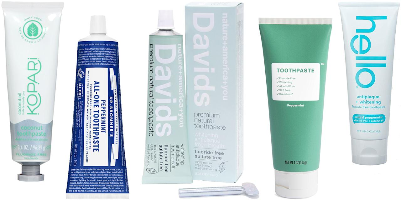 <p>Considering it goes in your mouth two or more times a day, it's probably a good idea to consider the ingredients in your toothpaste. Natural and organic versions have come a long way in the last five years. Though they don't contain parabens, fluoride, sulfates, triclosan, or other nasty ingredients, these 10 formulas are every but as minty, refreshing, whitening, and protecting as the one currently on your vanity. Switching to one of these editor-approved natural and organic toothpaste is probably the easiest step you can take toward a cleaner beauty routine. </p>