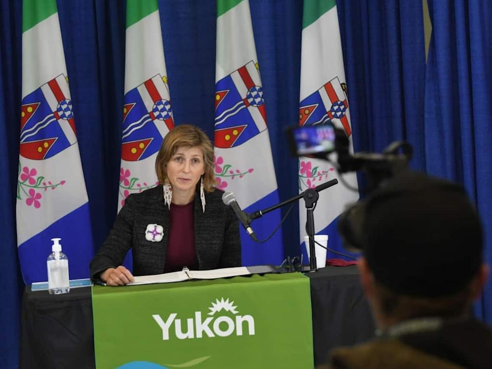 The Yukon's acting chief medical officer of health, Dr. Catherine Elliott, issued a 'strong recommendation' to wear masks in all indoor public spaces, citing concern about the daily growing number of COVID-19 cases in the territory. (Jackie Hong/CBC - image credit)