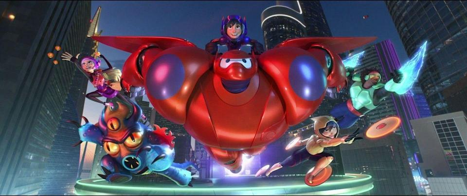 <p>What might have been a typical smash-'em-up heroes and villains movie aimed squarely at little boys turned out to be much more. That's thanks to a lovable, inflatable robot named Baymax who steals the entire movie and basically screams to be hugged.</p>