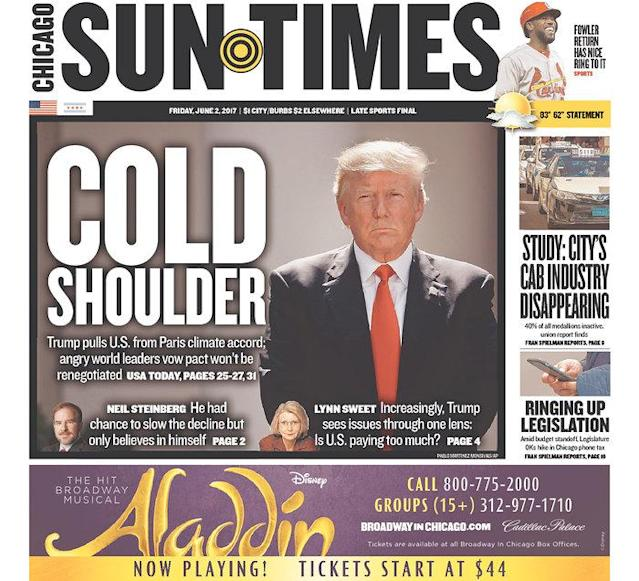 "<p>""Chicago Sun-Times,"" published in Chicago, Ill. (Newseum) </p>"