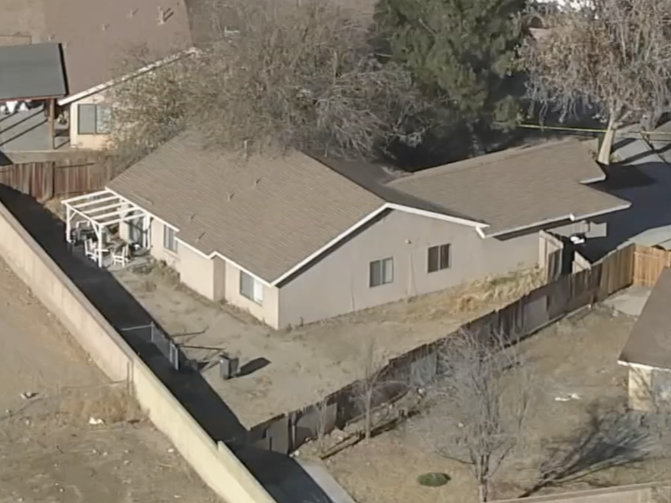Home where two children were found beheaded.