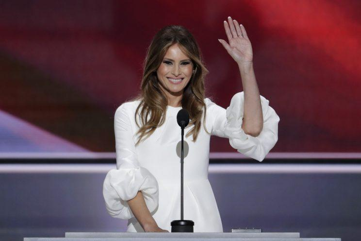 Melania Trump takes the stage at the Republican National Convention in Cleveland on Monday. (J. Scott Applewhite/AP)