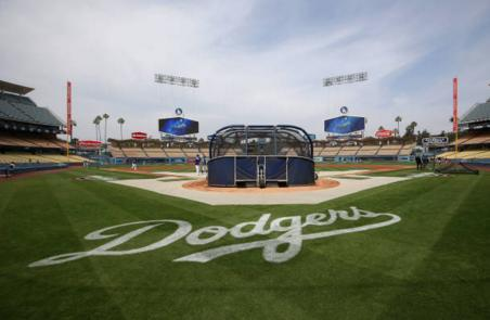Dodger Stadium played host to an awesome reunion of 'The Sandlot' cast. (Getty Images)