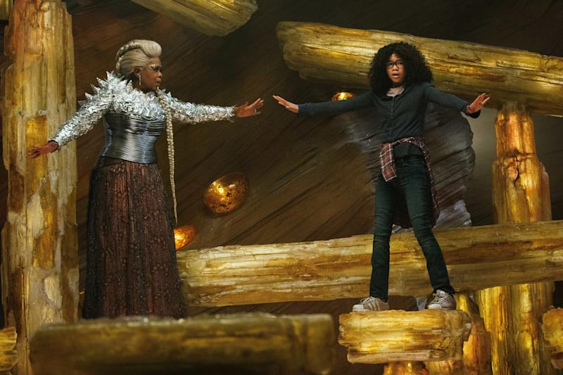 "Oprah Winfrey and Storm Reid in ""A Wrinkle in Time."""