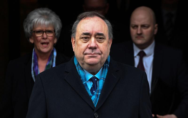 Alex Salmond successfully challenged a civil service probe against him in court, and was then cleared of all charges in the subsequent criminal case - AFP/ANDY BUCHANAN