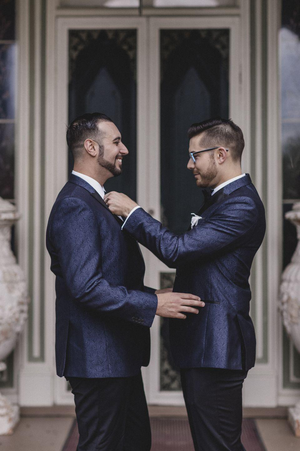 <p>The weather held out just long enough for the guests to arrive to the wedding in a small coastal town in Maryland on May 6, 2017. Everyone danced the night away and munched on the couple's signature honey whiskey cake, which they sell through their joint business, The Brooklyn Baking Barons. </p>