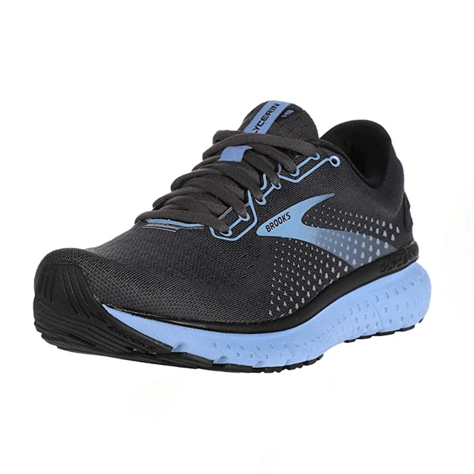 "Walking on pillows? Yes, please. The Brooks Glycerin 18 delivers all-around cushioning for the foot—and <a href=""https://www.amazon.com/gp/customer-reviews/R242YZPR2EDEX7/ref=cm_cr_arp_d_rvw_ttl?ie=UTF8&ASIN=B089TMC2WN"" rel=""nofollow noopener"" target=""_blank"" data-ylk=""slk:reviewers say"" class=""link rapid-noclick-resp"">reviewers say</a> the wide toe box combined with the flexible mesh upper is perfect for accommodating bunions. $83, Amazon. <a href=""https://www.amazon.com/dp/B07V4FWD46"" rel=""nofollow noopener"" target=""_blank"" data-ylk=""slk:Get it now!"" class=""link rapid-noclick-resp"">Get it now!</a>"