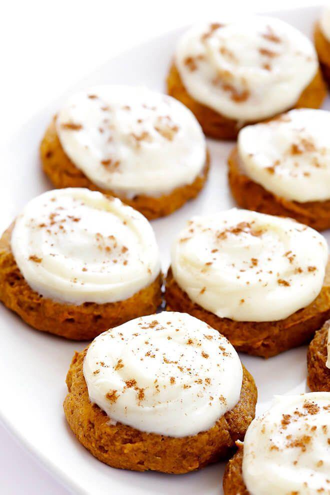 "<p>We'll take allll the pumpkin you've got this season.</p><p>Get the recipe from <a href=""https://www.gimmesomeoven.com/iced-pumpkin-cookies/"" rel=""nofollow noopener"" target=""_blank"" data-ylk=""slk:Gimme Some Oven"" class=""link rapid-noclick-resp"">Gimme Some Oven</a>.</p>"