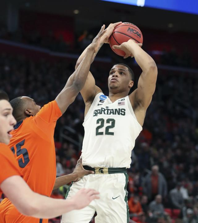 Michigan State forward Miles Bridges averaged over 17 points and seven rebounds as a sophomore. (AP)