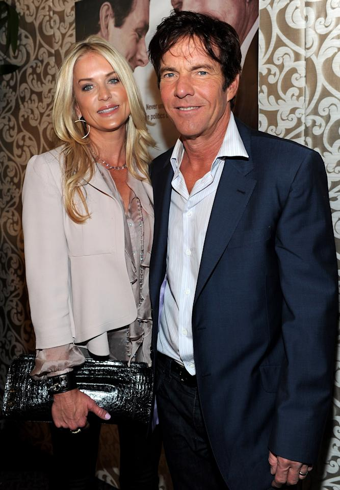 "LOS ANGELES, CA - FILE:  Kimberly Quaid and actor Dennis Quaid arrive at  the Los Angeles premiere of HBO Films' ""The Special Relationship"" at the DGA Theater on May 19, 2010 in Los Angeles, California. Kimberly has filed for divorce from actor Dennis Quaid on March 9, 2012. (Photo by Alberto E. Rodriguez/Getty Images)"