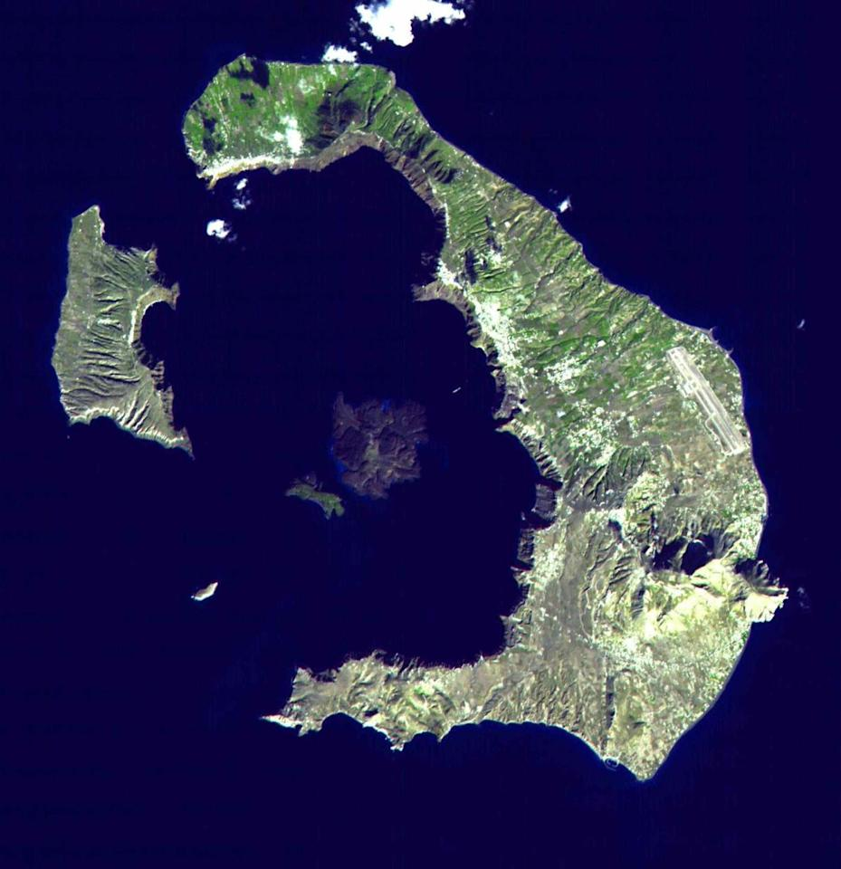 "<p>When the volcano on Santorini (then called Thera) <a href=""https://www.pnas.org/content/117/16/8677"" target=""_blank"">erupted in 1600 B.C.</a>, it destroyed the seaside village of Akrotiri, killing thousands. The volcano belched <a href=""https://www.pbs.org/wnet/secrets/the-fall-of-the-minoans/61/"" target=""_blank"">10 million tons of ash and rock</a> high into the sky.</p><p>While there's no evidence that Crete, 70 miles south of the volcano, was directly affected by the eruption, <a href=""https://www.volcanodiscovery.com/santorini/minoan-eruption/size.html"" target=""_blank"">some researchers believe</a> that it impacted critical trade routes, weakening the ancient civilization. </p><p>If that's not fascinating enough, <a href=""https://www.nationalgeographic.com/history/magazine/2017/09-10/Minoan_Crete/"" target=""_blank"">some researchers suspect</a> that Plato's myth of the ancient city of Atlantis may have taken root in the aftermath of the devastating eruption.</p>"