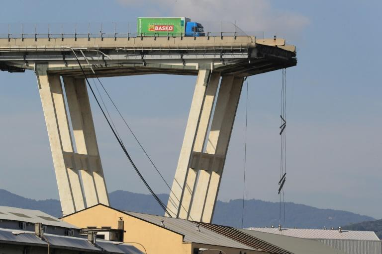 "The disaster left one driver's green lorry perched precariously close to the precipice. The 37-year-old driver told Italian media how he had escaped the ""hell"" of the bridge collapse"