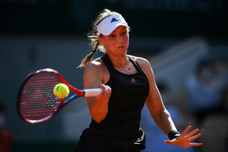 Elena Rybakina is in the second week at a Grand Slam for the first time