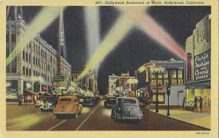Vintage postcards from Patt Morrison's collection for a column on neighborhoods that are not cities.