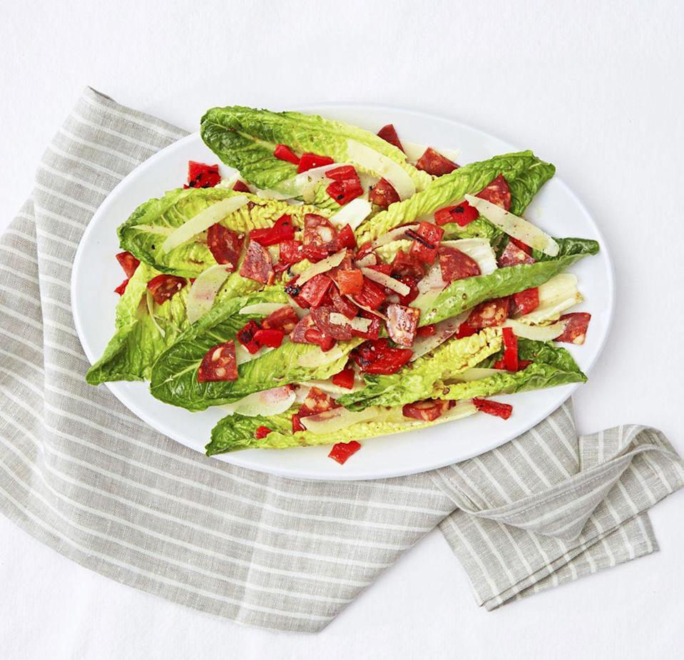 """<p>Manchego cheese and cured chorizo star in this keto-friendly Spanish sampler. Chorizo is a delicious cousin to classic bacon, after all!</p><p><a href=""""https://www.goodhousekeeping.com/food-recipes/a33580/tapas-salad-recipe/"""" rel=""""nofollow noopener"""" target=""""_blank"""" data-ylk=""""slk:Get the recipe for Tapas Salad »"""" class=""""link rapid-noclick-resp""""><em><em>Get the recipe for Tapas Salad <em><em>»</em></em></em></em></a></p>"""