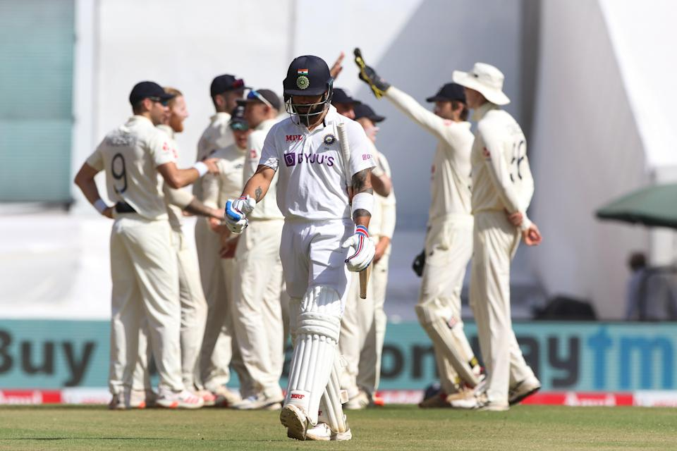 Virat Kohli of India walks back during day two of the fourth Test (BCCI)
