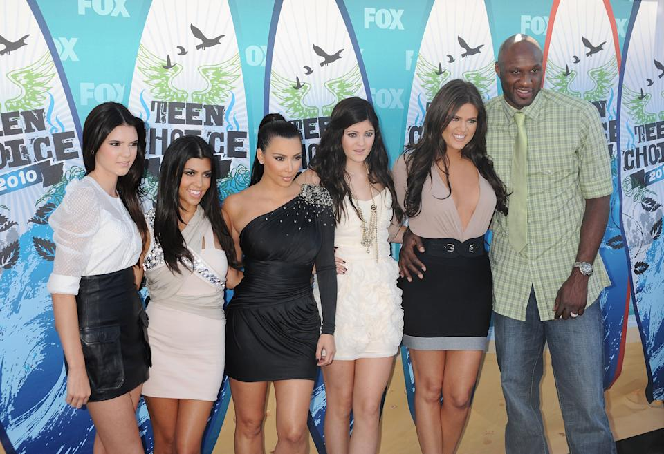 Kardashian sisters Kim, Kourtney and Khloe plus Kendall and Kylie Jenner and Lamar Odom in 2013. Source: Reuters