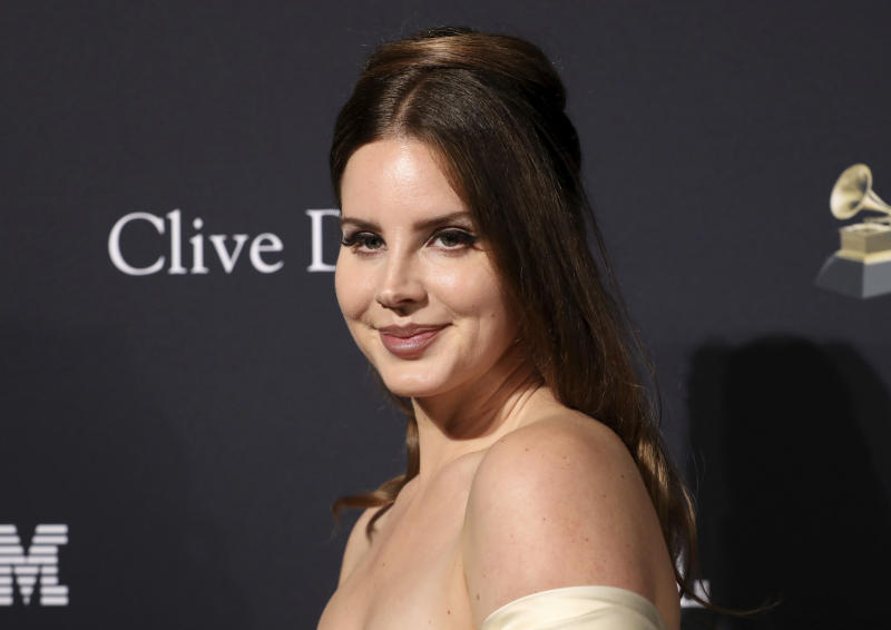 Lana Del Rey arrives at the Pre-Grammy Gala And Salute To Industry Icons at the Beverly Hilton Hotel on Saturday, Jan. 25, 2020, in Beverly Hills, Calif. (Photo by Mark Von Holden/Invision/AP)