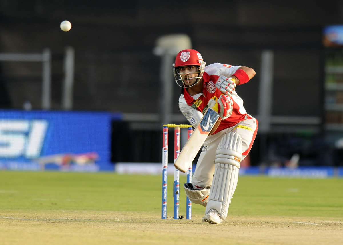 Mandeep Singh of Kings XI Punjab bats during match 6 of the the Pepsi Indian Premier League ( IPL) 2013  between The Pune Warriors India and the Kings XI Punjab held at the Subrata Roy Sahara Stadium, Pune on the 7th April  2013..Photo by Pal Pillai-IPL-SPORTZPICS ..Use of this image is subject to the terms and conditions as outlined by the BCCI. These terms can be found by following this link:..https://ec.yimg.com/ec?url=http%3a%2f%2fwww.sportzpics.co.za%2fimage%2fI0000SoRagM2cIEc&t=1505841044&sig=0mqy4lcK8FbDVpNZE2jLTQ--~D