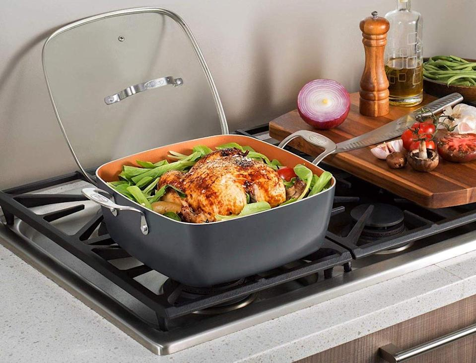 Cook whatever you want—nothing will stick to these pots and pans. (Photo: Amazon)