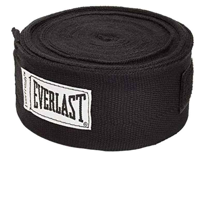 """<p><strong>Everlast</strong></p><p>amazon.com</p><p><strong>$7.96</strong></p><p><a href=""""http://www.amazon.com/dp/B000Y19KGA/?tag=syn-yahoo-20&ascsubtag=%5Bartid%7C10054.g.28369170%5Bsrc%7Cyahoo-us"""" target=""""_blank"""">BUY</a></p><p>If you frequent a boxing gym, it's worth investing in your own gear. Get a few hand wraps for mitt work and bags classes. </p>"""