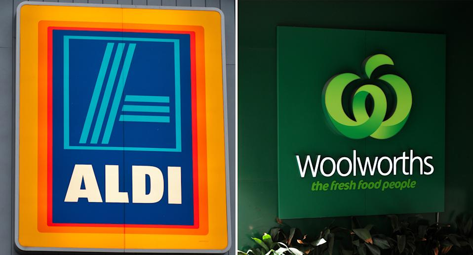 Aldi and Woolworths