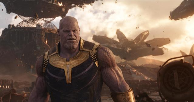 Thanos (Josh Brolin) delivers on his reputation as the Mad Titan. (Photo: Marvel Studios)