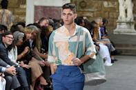"""<p>In addition to being an actor, Hero is a model and is <a href=""""https://www.stormmanagement.com/model/hero-fiennes-tiffin/"""" class=""""link rapid-noclick-resp"""" rel=""""nofollow noopener"""" target=""""_blank"""" data-ylk=""""slk:signed to Storm Models"""">signed to Storm Models</a>. He's worked on campaigns for H&amp;M and Dolce &amp; Gabbana. </p>"""