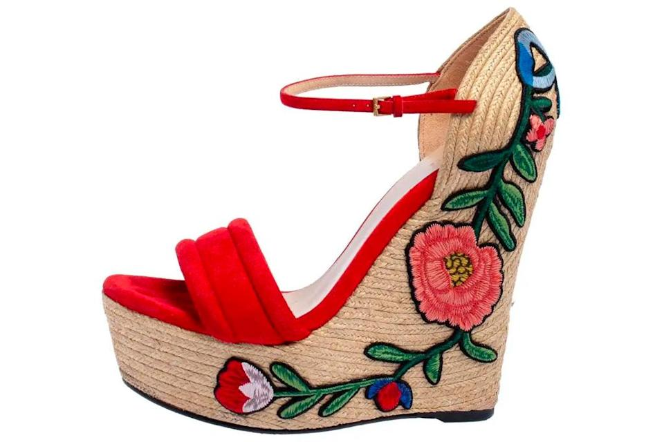 Gucci wedge sandals. - Credit: Courtesy of 1stDibs
