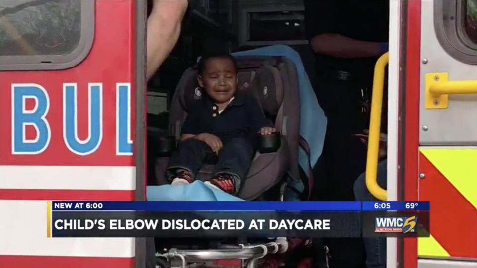 Jace Hudson's mom says that his pre-school teacher dislocated the child's elbow. (Photo: WMC)