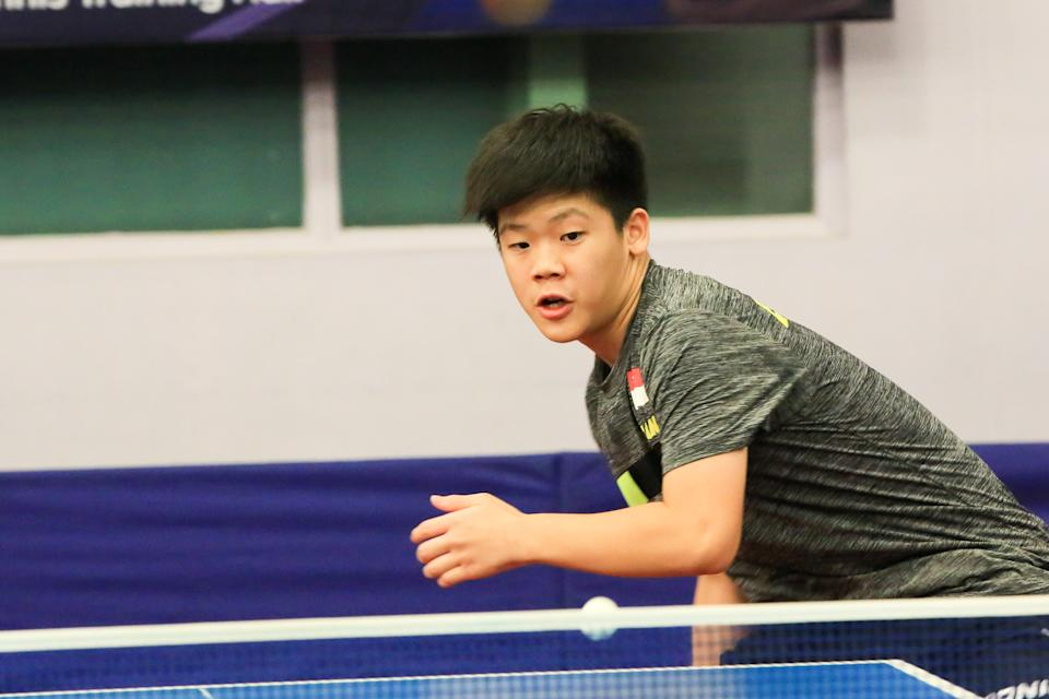 Singaporean table tennis player Izaac Quek Yong. (PHOTO: Singapore Table Tennis Association)