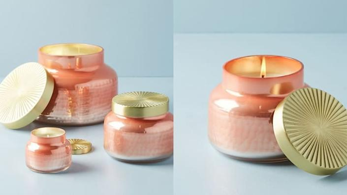 The Capri Blue Iridescent Jar Candles make any atmosphere cozier.