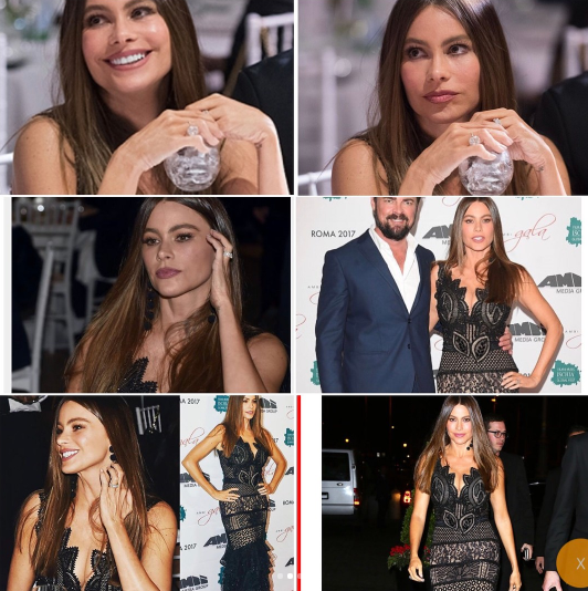 Sofia posted this photo showing that she was wearing her wedding ring that night. (Photo: Sofia Vergara via Instagram)