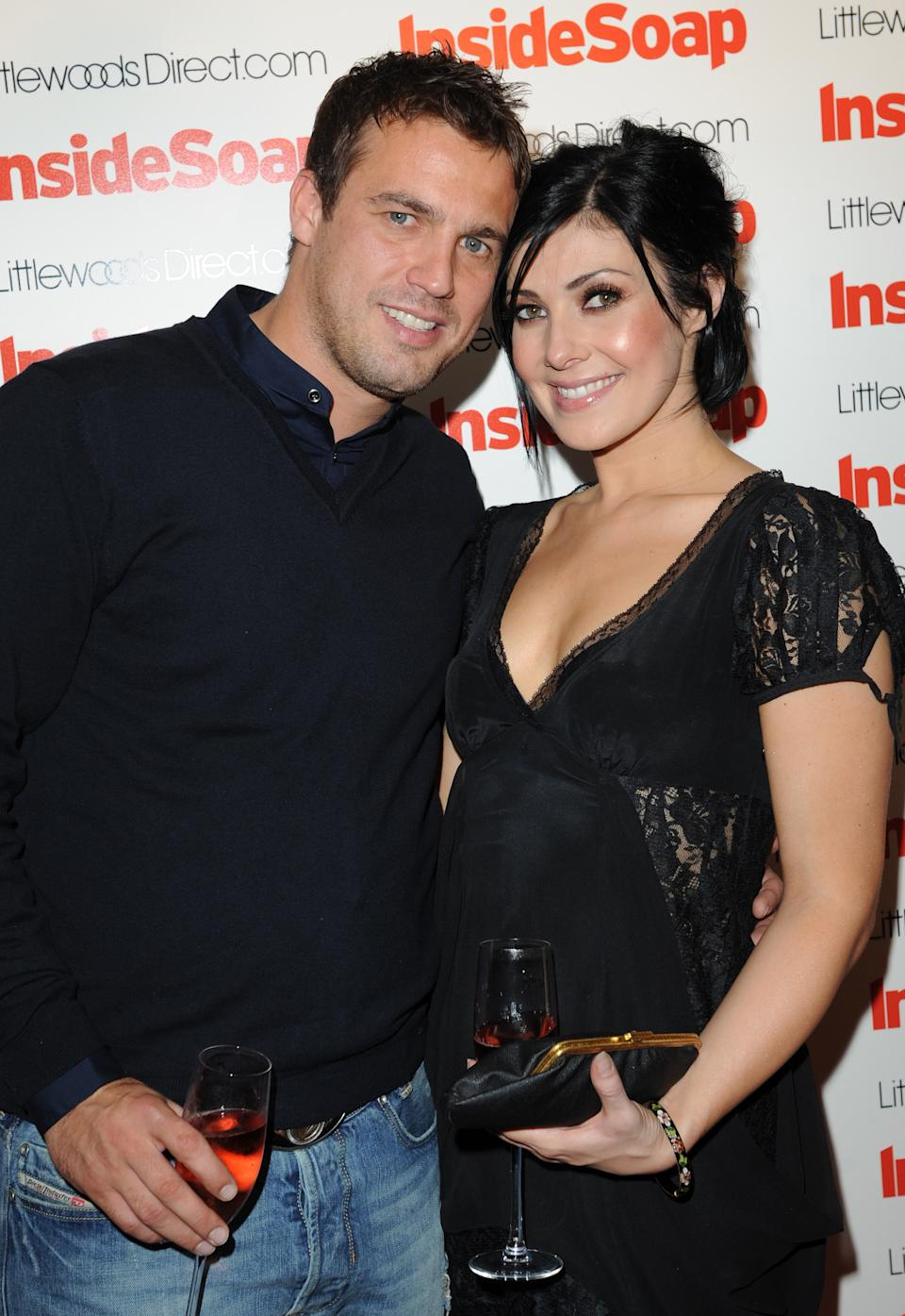 Jamie Lomas and Kym Marsh arriving at the Inside Soap Awards 2008 Launch Party, sponsored by LittlewoodsDirect.com. Held at the Great John Street Hotel, Manchester.