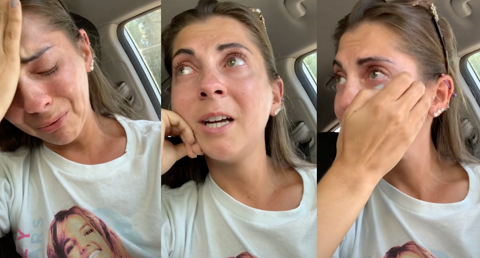 Shannon Heroux claims she was denied service at Dunkin' Donuts because she's deaf. (Image via TikTok/Shanon_Heroux)