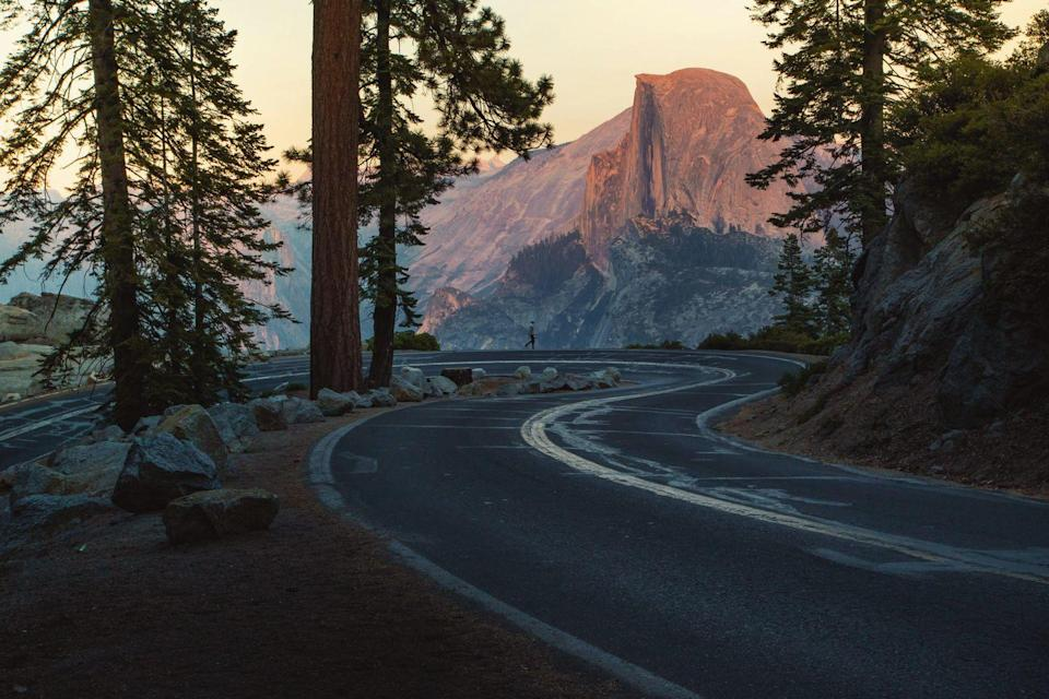 <p>The winding roads throughout Yosemite National Park in California reveal breathtaking views around every bend.</p>