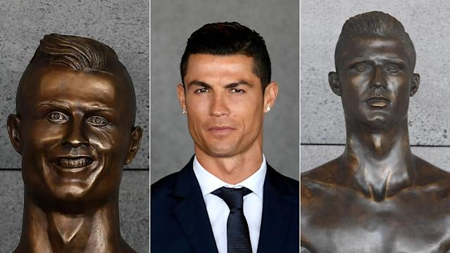 Which Cristiano Ronaldo bust do you prefer? (Getty Images)