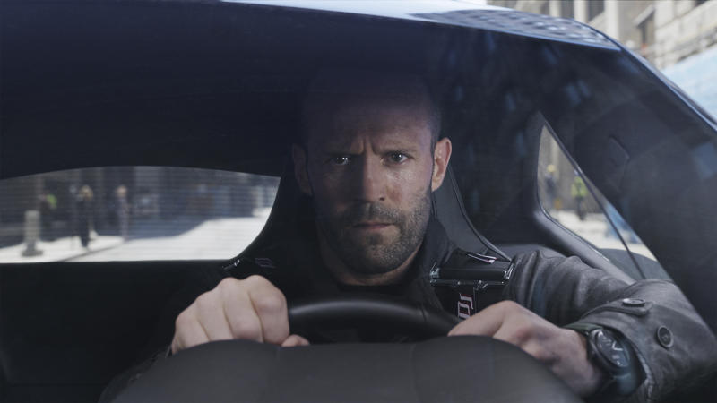 """This image released by Universal Pictures shows Jason Statham in """"The Fate of the Furious."""" (Universal Pictures via AP)"""