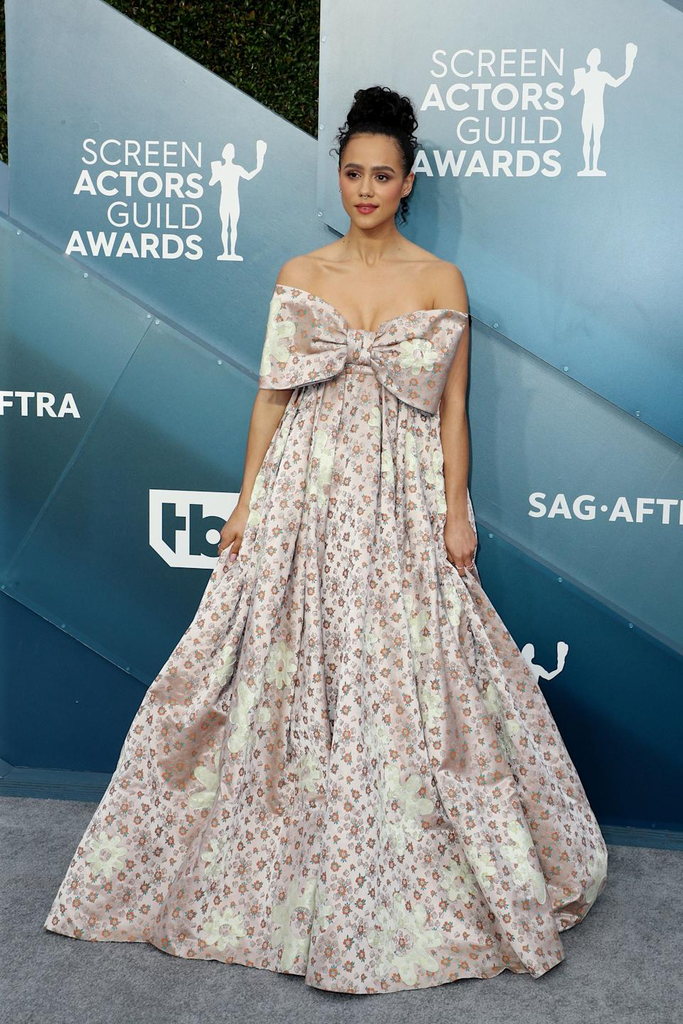 """<h2>Nathalie Emmanuel in Miu Miu<br></h2><br>We're still not over losing Missandei on Game of Thrones, but at least we have Nathalie Emmanuel in Miu Miu to make up for the loss. <span class=""""copyright"""">Photo: John Salangsang/Variety/Shutterstock.</span>"""
