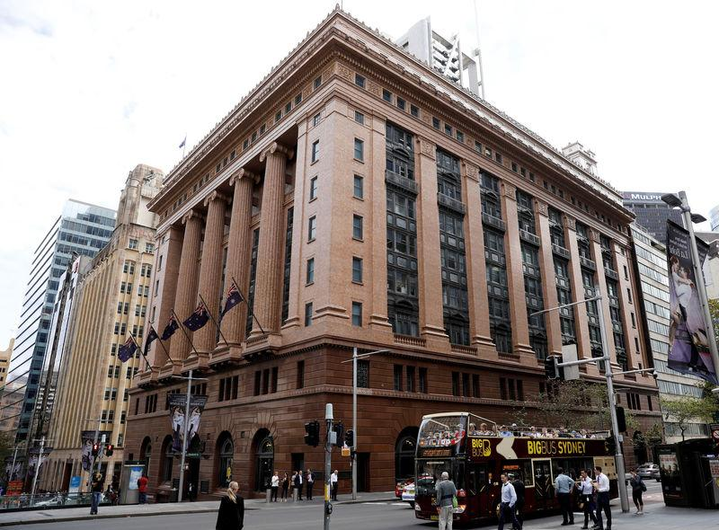FILE PHOTO: A view of a Commonwealth Bank of Australia branch in Sydney