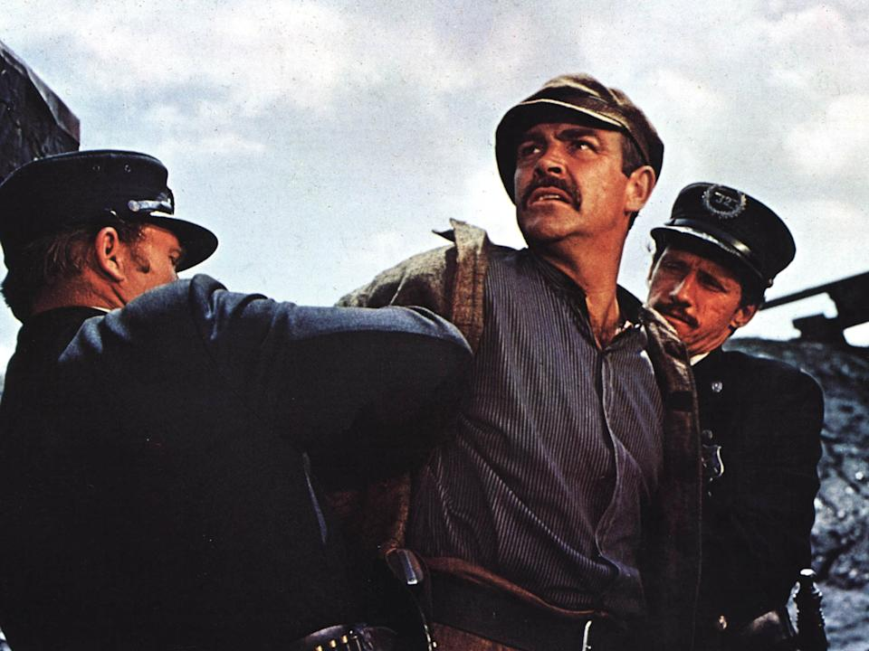 <p>Sean Connery in 1970 film 'The Molly Maguires'</p>Rex Features
