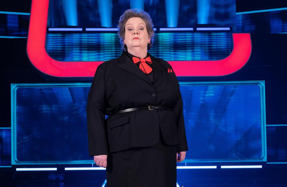 Anne Hegerty on the set of Beat The Chasers (Photo: ITV/Shutterstock)