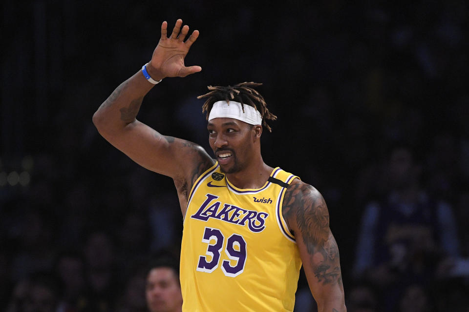 """Dwight Howard said """"somebody told on me"""" for not wearing a mask, though keeps sharing videos to social media where he's not wearing one."""