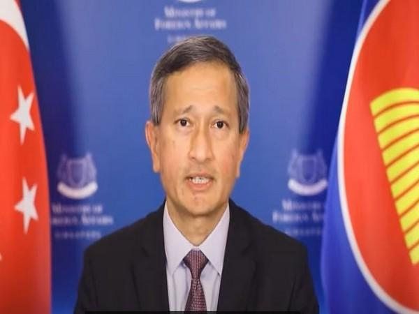 Singapore Foreign Minister Vivian Balakrishnan speaking at the inaugural session of INDO-ASEAN: Business Summit & Expo.