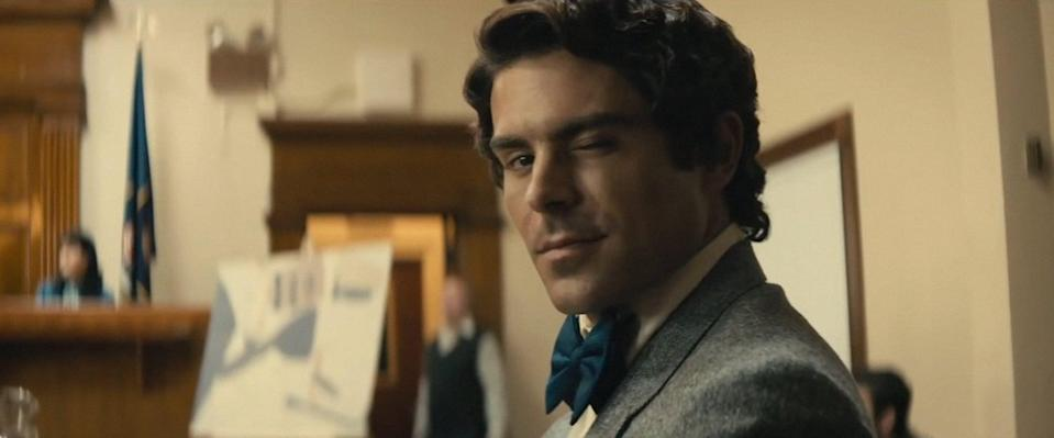 """<p>Efron's most shocking role to date is definitely as infamous serial killer Ted Bundy in the biopic drama <strong>Extremely Wicked, Shockingly Evil and Vile</strong>. The crime drama, which Efron also executive produced, follows Bundy through the lens of his relationship with Elizabeth Kendall, his girlfriend at the time of his crime spree's beginnings. It's a gleefully dark departure for Efron, who gets portray a much different kind of charm than his usual leading-man roles.</p> <p>Watch <strong><a href=""""http://www.netflix.com/title/81028570"""" class=""""link rapid-noclick-resp"""" rel=""""nofollow noopener"""" target=""""_blank"""" data-ylk=""""slk:Extremely Wicked, Shockingly Evil and Vile"""">Extremely Wicked, Shockingly Evil and Vile</a></strong> on Netflix.</p>"""