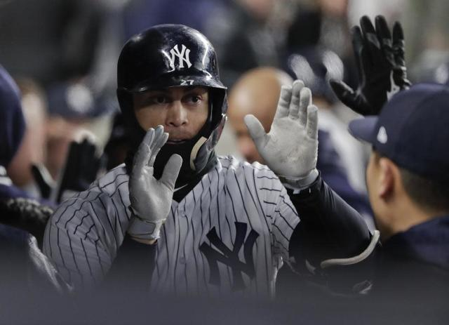 Yankees slugger Giancarlo Stanton finally turned the boos to cheers at Yankee Stadium after ending an 11-game home run drought. (AP)